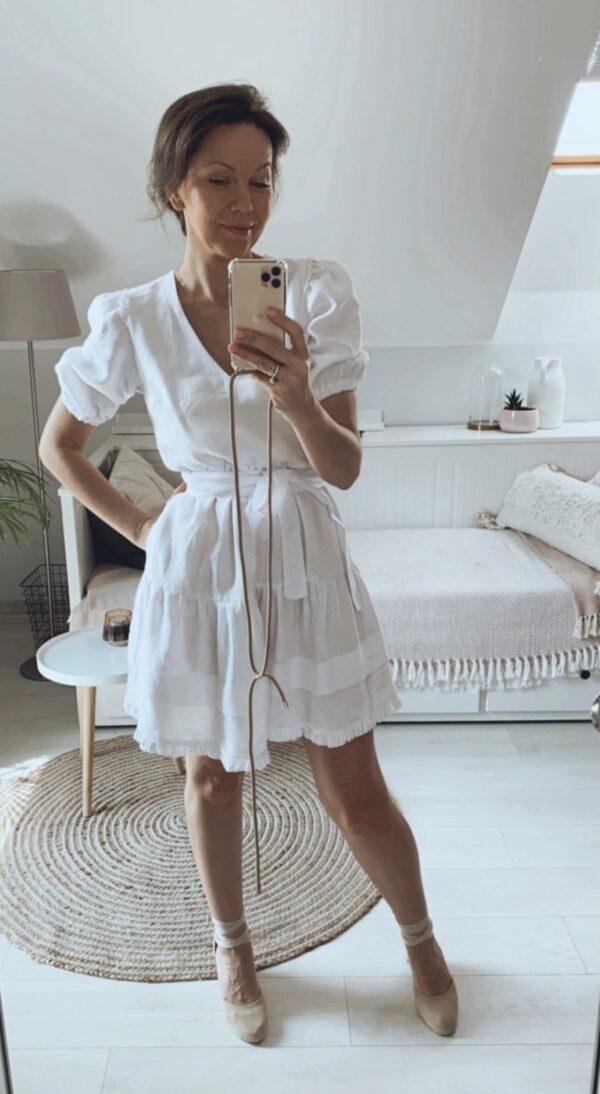 Sukienka krótka biala